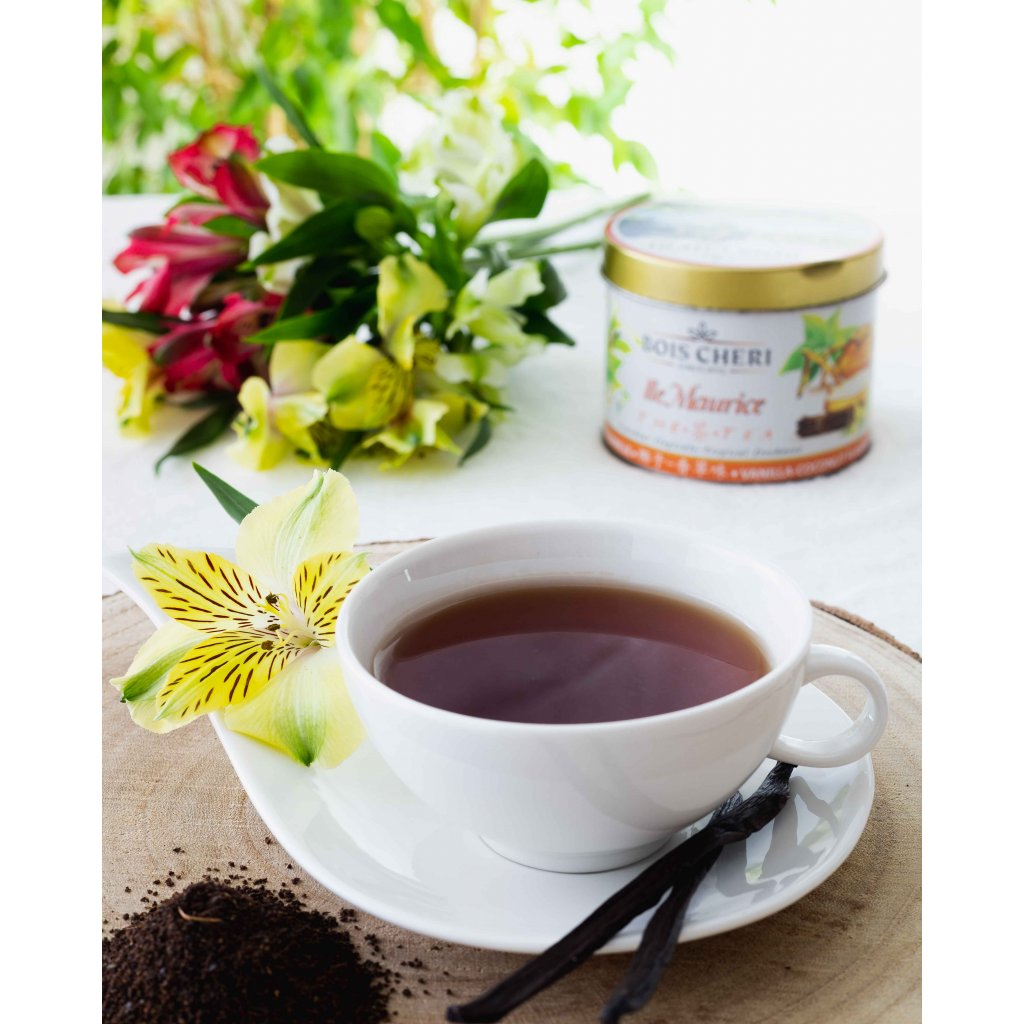 Bois Cheri Ile Maurice - sypaný černý čaj s příchutí kokosu a vanilky, 125g