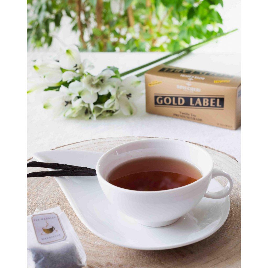 Bois Cheri Gold Label - porcovaný černý čaj v sáčcích s vanilkou, 50g