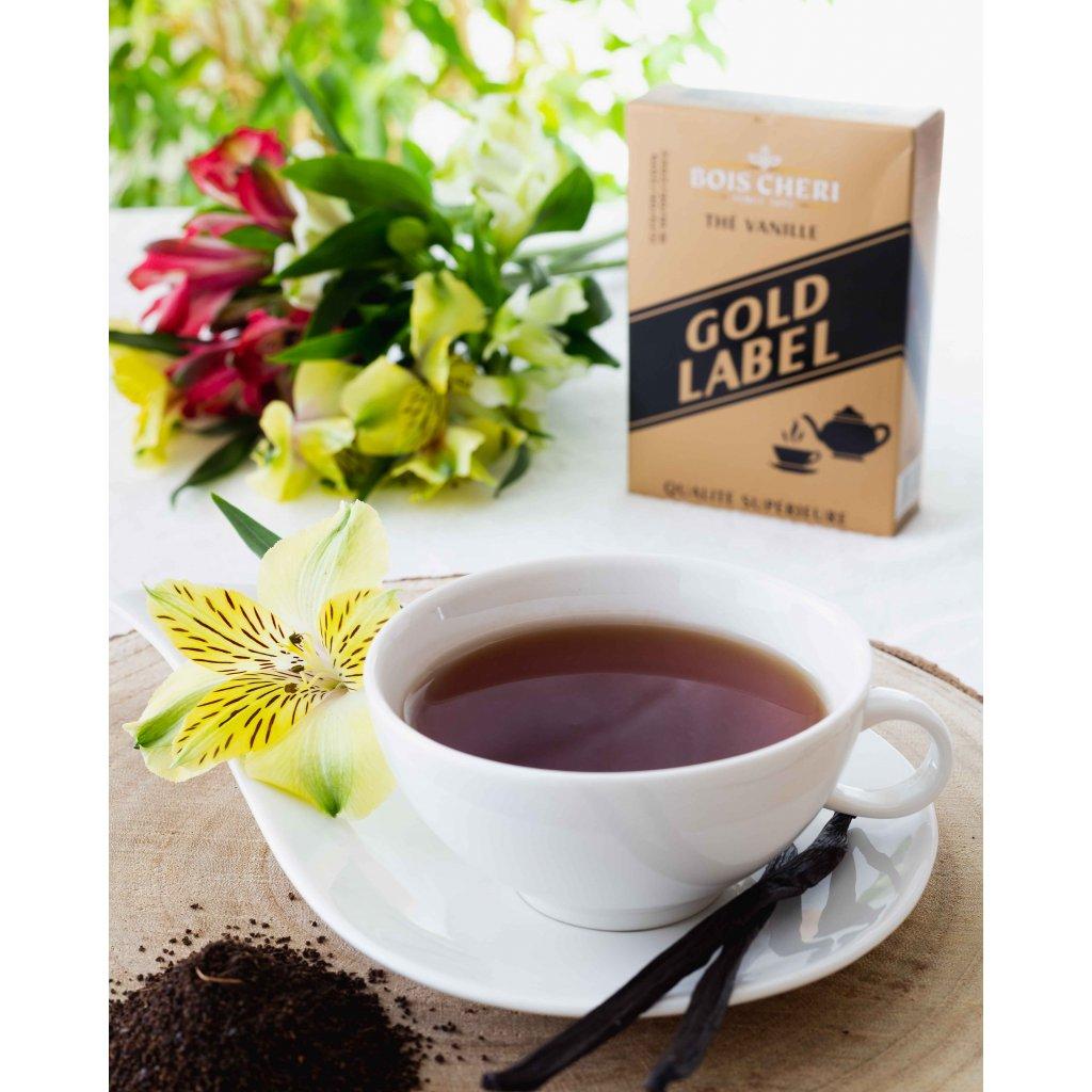 Bois Cheri Gold Label - sypaný černý čaj s vanilkou, 125g