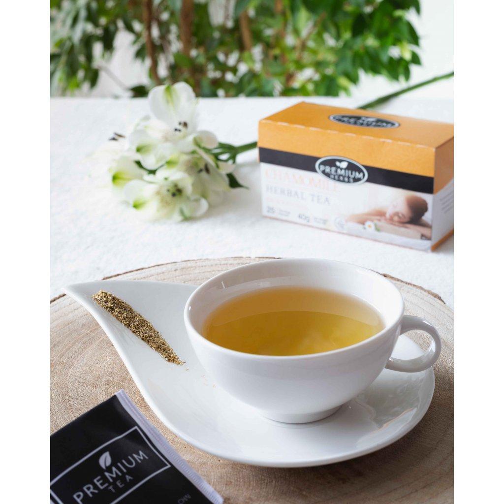 La Chartreuse Premium - porcovaný bylinný čaj s heřmánkem, 40g