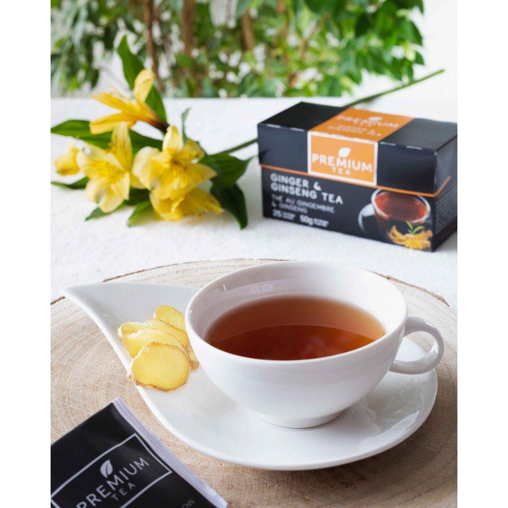 La Chartreuse Premium - porcovaný černý čaj se zázvorem a ženšenem, 50g