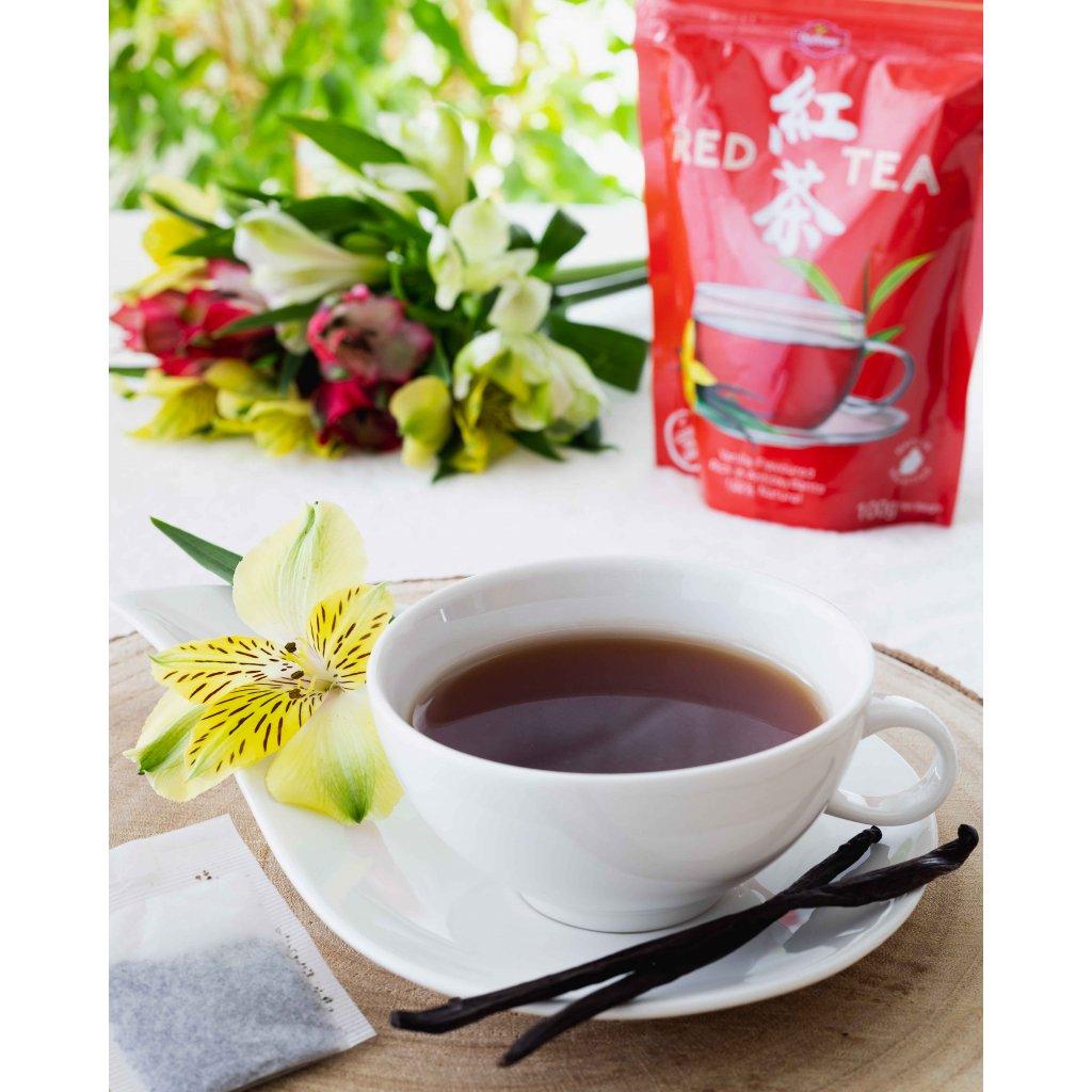 La Chartreuse Red Tea Vanilla - porcovaný černý čaj s vanilkou, 100g