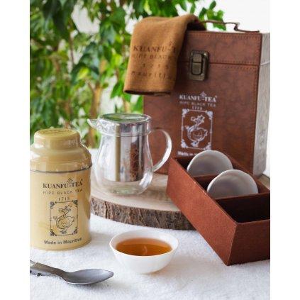 Kuanfu Tea Nill - cestovní sada hermeticky stlačeného klasického zralého černého čaje, 80 g