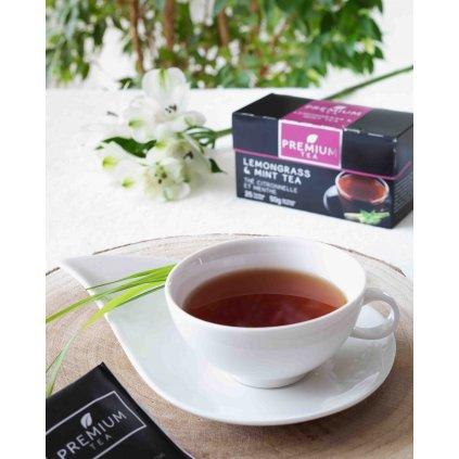 La Chartreuse Premium - porcovaný černý čaj s příchutí citronové trávy a máty, 50g