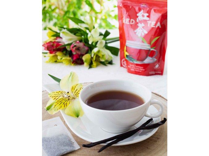 Red Tea Vanilla (tea bag in pouch), červený čaj s vanilkou, porcovaný, 100g