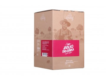Jablko - brusinka 90/10% 5l bag in box