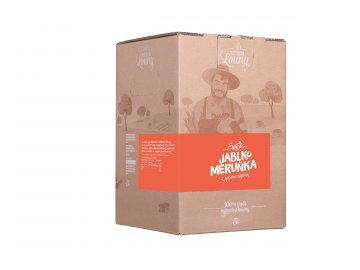 Jablko - meruňka 80/20% 5l bag in box