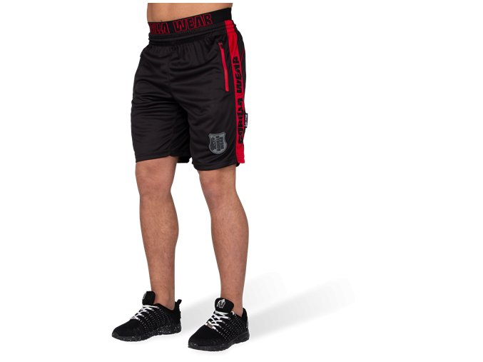shelby shorts black red
