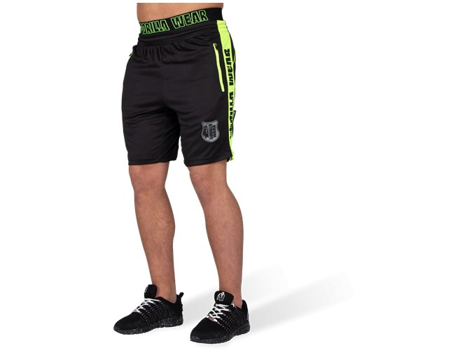 shelby shorts black neon lime