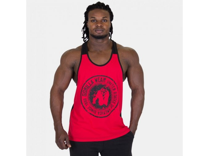 Roswell Tank Top - Red/Black