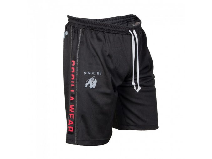 Functional Mesh Shorts Black/Red