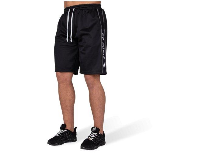 functional mesh shorts black white