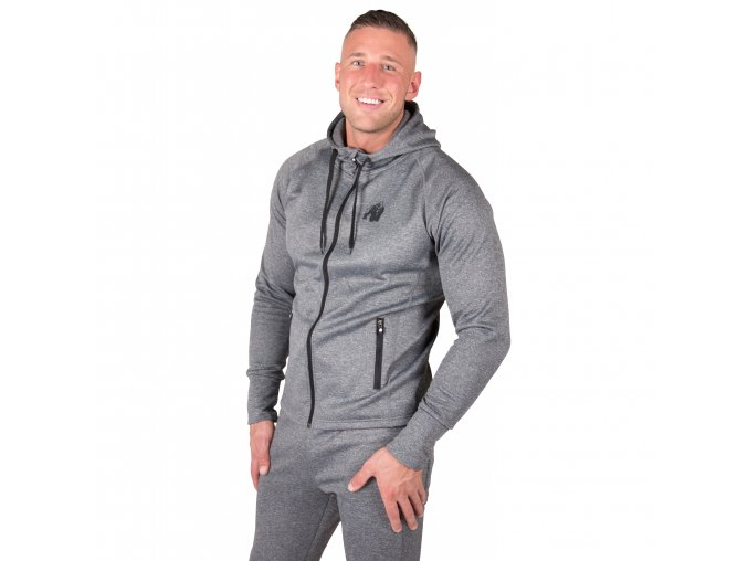 Bridgeport Zipped Hoodie Dark Gray