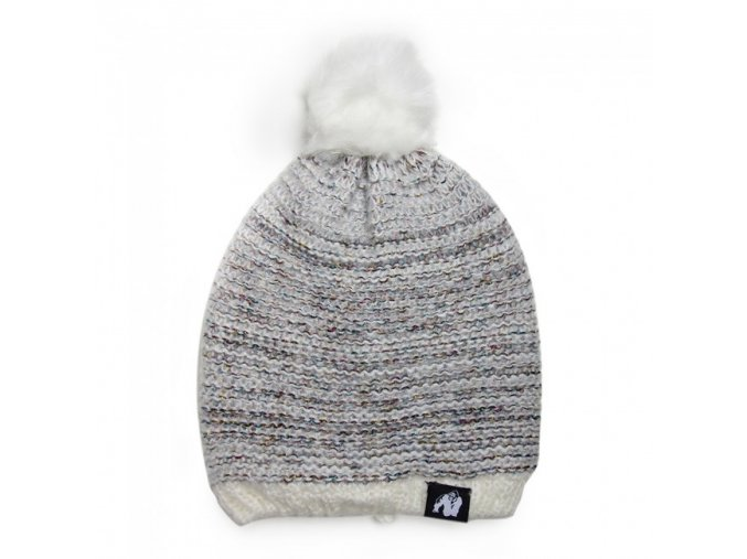 9981810800 bellevue beanie white gray 1