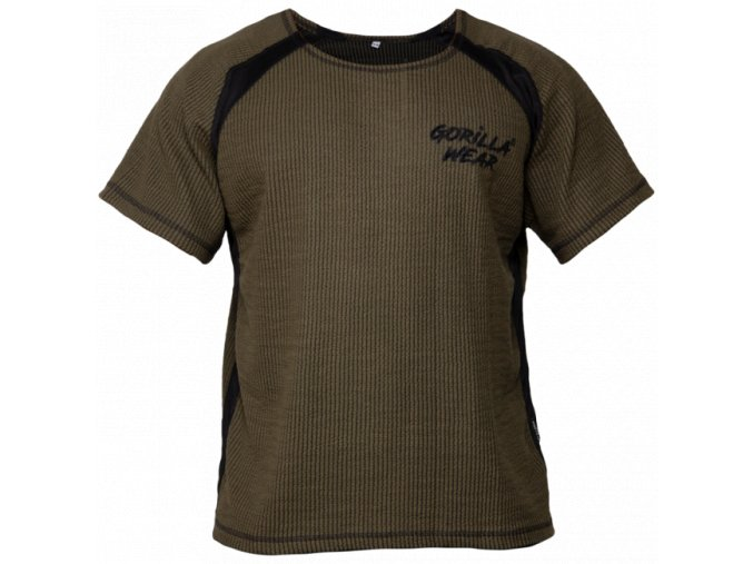 Augustine Old School Work Out Top - Army zelený