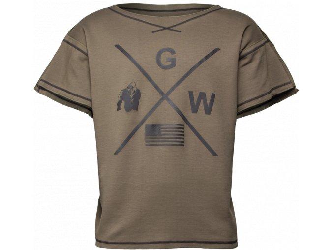 Sheldon Workout Top - Army zelený