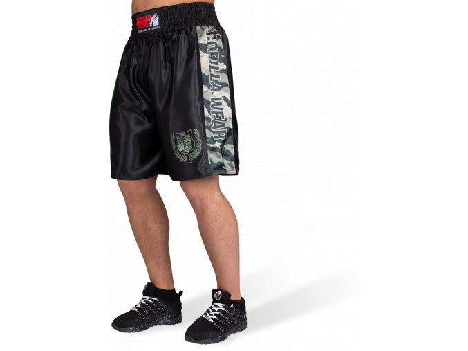 vaiden boxing shorts army green camo