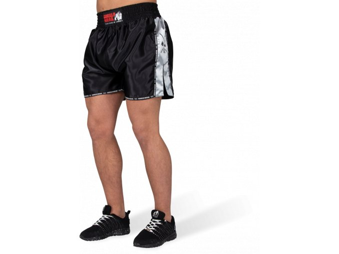 henderson muay thai kickboxing shorts black gray