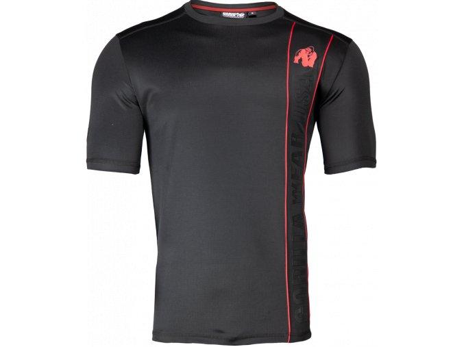 branson t shirt black red
