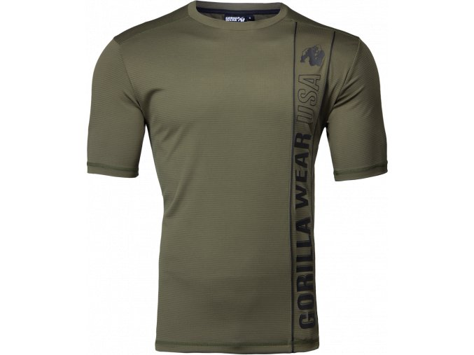 branson t shirt army green black