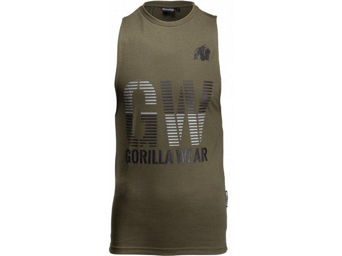 dakota sleeveless t shirt army green