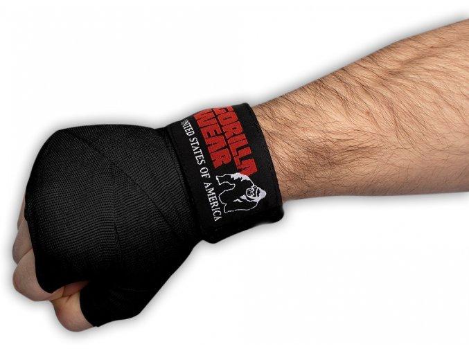 boxing hand wraps black