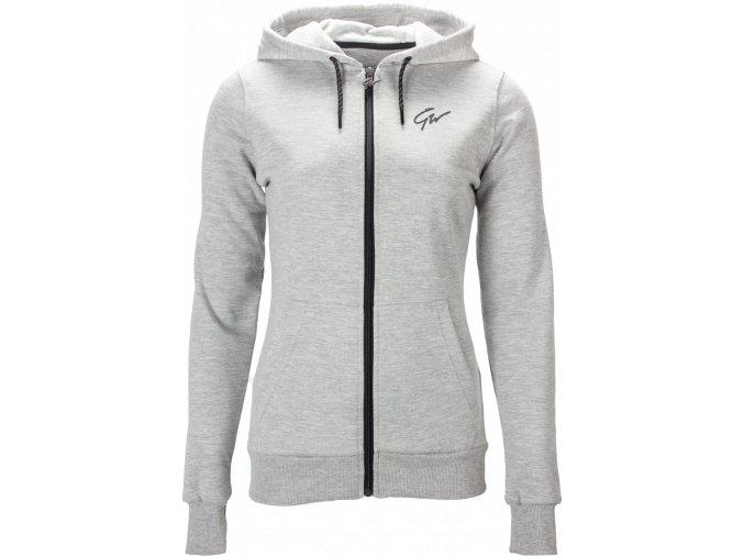 pixley zipped hoodie gray