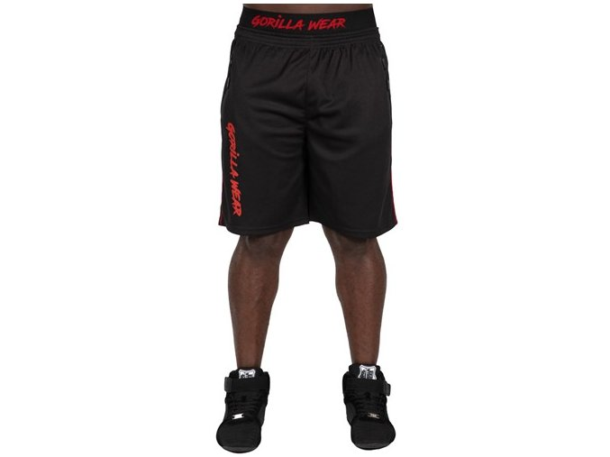 mercury mesh shorts black red