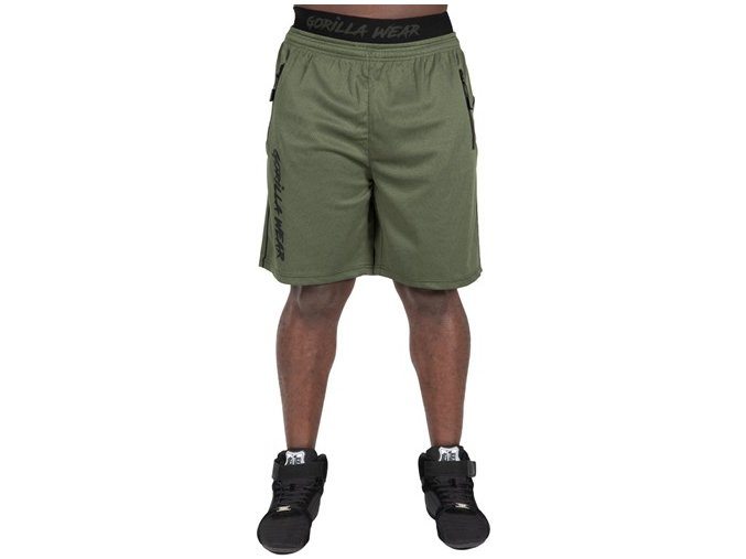 mercury mesh shorts army green black