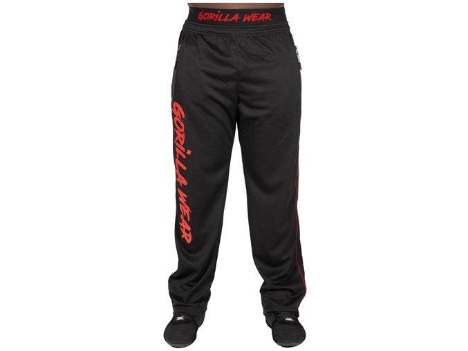 mercury mesh pants black red