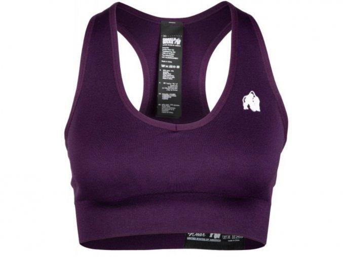 Neiro seamless sports bra- purple