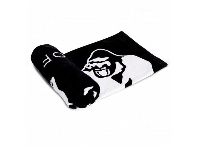 9916090100 classic gym towel black white 04 kópia