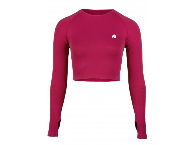 91603600 hilton seamless long sleeve fuchsia 01