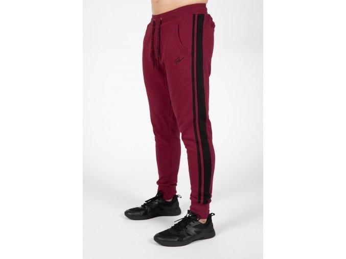 90961590 banks pants burgundy red black 6