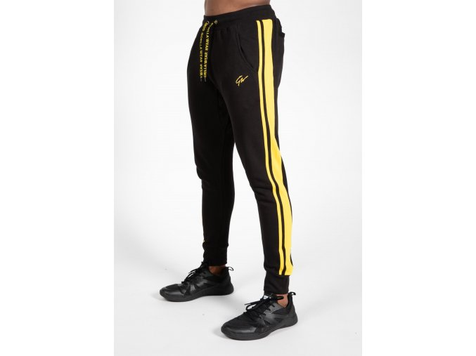 90961920 banks pants black yellow 5
