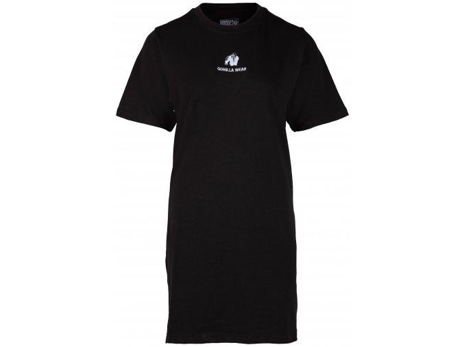 Neenah Tričkové Šaty - Čierne