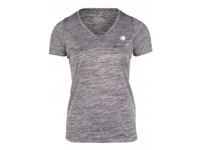 91529800 elmira v neck t shirt gray melange 01
