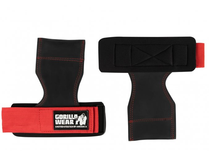 9912590509 lifting grips black red 28
