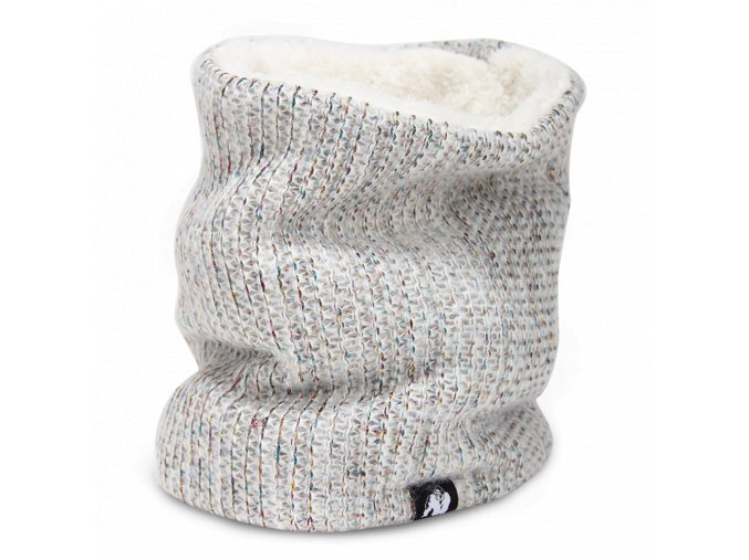 9981910800 bellevue neck warmer white gray