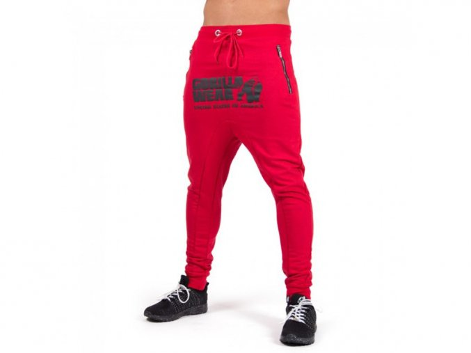Alabama Drop Crotch Joggers Red