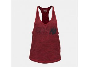 austin tank top red front grijs