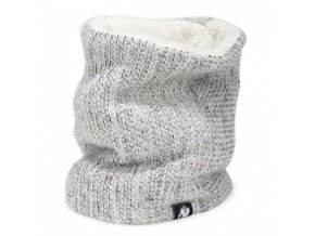 9981910800 bellevue neck warmer white gray
