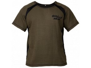 Augustine Old School Work Out Top - Army Green