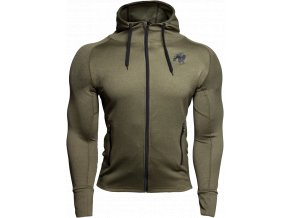 bridgeport zipped hoodie army green