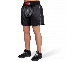 murdo muay thai kickboxing shorts black gray