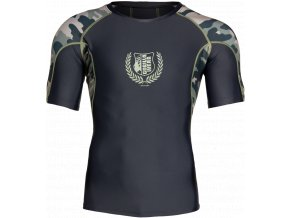cypress rashguard short sleeves army green camo