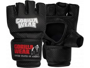 Manton MMA Gloves (s palcom) - Black/White