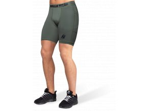 smart shorts army green