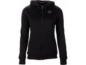 pixley zipped hoodie black