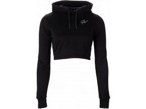 pixley crop top hoodie black